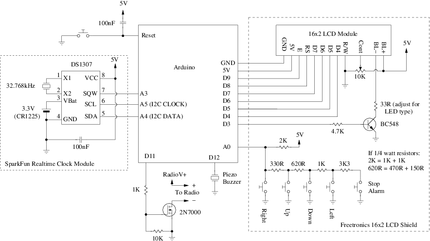 ArduinoLibs: Alarm Clock on